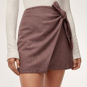 Aritzia Wilfred Dorine Skirt Red Plaid Size 0